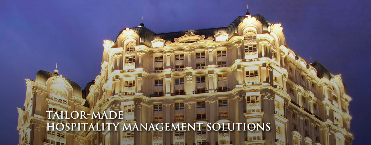main banner - Tailor-made Hospitality Management Solutions.